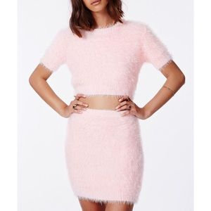 Pink Missguided fury set
